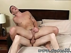 Gay twink getting fucked by older daddy with shirt on Trent is