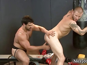 Hot jock gets assfucked at gym part1