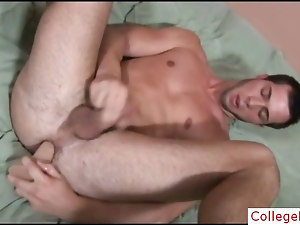 College guy stuffing his ass with dildo by collegebf