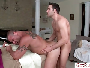 Massage pro riding his clients cock by gotrub