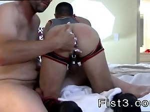 Free video gay twink spanking paddle Fist n Fuck Fest for Three Pigs