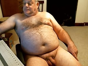 Naked Bear Dad on Webcam