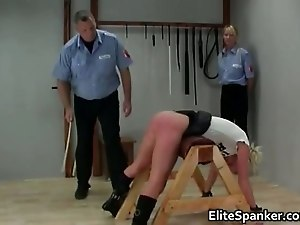 Poor blond babe gets her beautiful ass