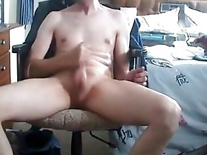 Rubbing and Masturbating in chair Manners