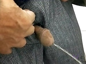 Asian old man pissing hidden camera old dick 2